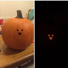 My friend carved this sad pumpkin last night.