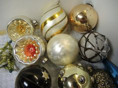 Vintage Christmas Ornaments on Etsy, $12.00
