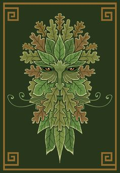 This is a simple Green Man image that speaks to the nature of the wild aspects found with the Green Man. Green Man Tattoo, Green Tattoos, Loki, Thor, Irish Symbols, Celtic Symbols, Symbole Viking, Lino Art, Celtic Green