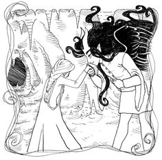 The Dark Lord and the Seamstress: An Adult Coloring Book Adult Coloring Pages, Coloring Books, Dark Lord, Love Story, The Darkest, Kiss, Queen, Illustration, Projects
