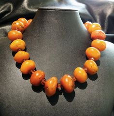 Antique Necklace Baltic Amber and Copal Tribal by ElegantArtifacts, $850.00