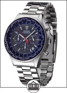 Detomaso Firenze - Reloj de cuarzo para hombres, con correa de acero inoxidable de color plateado, esfera azul de  ✿ Relojes para hombre - (Gama media/alta) ✿