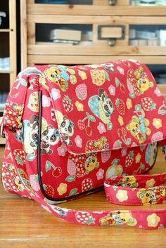 Kawaii Japanese Kokka Fabric Messenger Bag