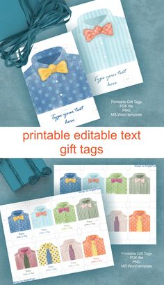 #printable #fathers_day #gift #tags #watercolor