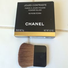 Chanel blush/bronzer brush Chanel bronzer or Baluch brush two sides one brown other black, rarely used. Authentic. I am putting it inside a random Chanel makeup box to come with it! CHANEL Accessories