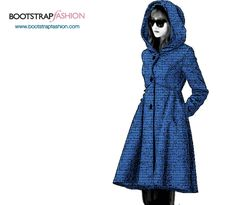 Bootstrapfashion.com - Custom-Fit PDF Sewing Pattern Of the Coat With Empire Waist