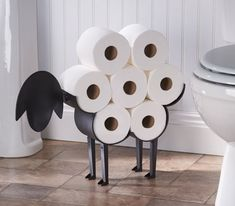 "Promising Review: ""I absolutely love this sheep toilet paper holder! I was sick of trying to find space in our bathroom closet to store extra rolls of TP. This seemed like the perfect solution! It's made very well, easy to assemble, and has brought a bit of functional whimsy into an otherwise boring room. I appreciate the fact that it can be free-standing or hung on the wall. Seriously, if I could give this thing 10 stars, I would! It's sooooo cute!"" —DeanokatPrice: $44.99"