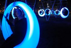 Gallery of Get Swinging in Boston on these Glowing LED Hoops - 2