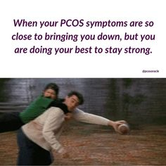 Stay STRONG! Don't let your PCOS symptoms get you down. I know that seems hard to do when you've just been diagnosed with PCOS and have no idea what is happening and what you need to do to reverse the symptoms. I understand living with the symptoms every single day can and will bring you down sometimes. But keep reminding yourself that these symptoms CAN be reversed. You can overcome PCOS. . You can live a symptom free life.💪