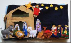 nativity quiet book page