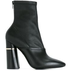 3.1 Phillip Lim 'Kyoto' ankle boots (50.225 RUB) ❤ liked on Polyvore featuring shoes, boots, ankle booties, black, black high heel booties, high heel booties, black bootie, black booties and chunky-heel ankle boots