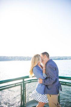 Solie Designs engagement photos. Washington Ferry!