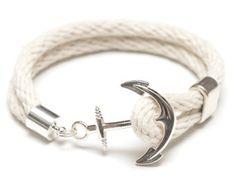 Bracelet corde nautique / Nautical ancrage par AllisonColeJewelry