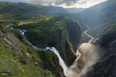 Vøringsfossen, Norway. You can almost see the trolls and elves from here…