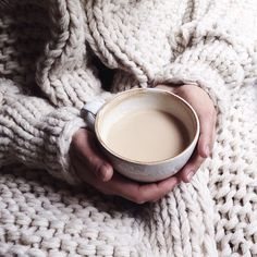 Cozy and warm morning with a cup of cappuccino!
