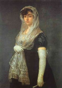 """Artist Francisco de Goya quickly became established as a portraitist of the leading members of Madrid society in the century. In Charles IV made him court painter. Francisco de Goya (Spanish), """"Young Lady Wearing a Mantilla and Basquina,"""" c. Francisco Goya, Spanish Painters, Spanish Artists, National Gallery Of Art, Art Gallery, Art Espagnole, Caspar David Friedrich, Wow Art, Art Database"""
