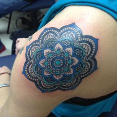 Amazing Blue Flower Female Tattoos (12)