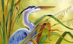 Great Blue Heron Art Print by Lyse Anthony. All prints are professionally printed, packaged, and shipped within 3 - 4 business days. Birds Painting, Art Prints, Heron Art, Canvas Prints, Fine Art Painting, Painting, Art, Animal Paintings, Bird Art