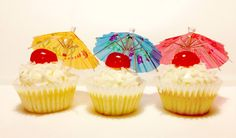 Happy 1st day of summer! Introducing our Pina Coloda Cupcake - Coconut cake filled with crushed pineapple, topped with a pineapple cream cheese frosting, coconut flakes, a Maracino cherry and an umbrella on top! Happy summer!