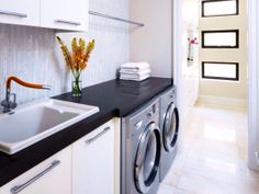 Contemporary Laundry Room - Come find more on Zillow Digs!