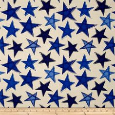 Marblehead Valor Large Stars Blue/Beige from @fabricdotcom  Designed by Ro Gregg for Paintbrush Studio in association with Fabri-Quilt, this patriotic cotton print fabric is perfect for quilting, apparel and home decor accents. Colors include blue and beige.