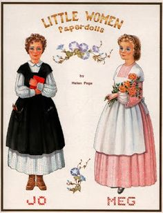 Little Women 1991 - Bobe Green - Picasa Web Albums Paper Dolls Book, Vintage Paper Dolls, Paper Toys, Paper Crafts, Paper Dolls Printable, Paper People, Bobe, Retro Toys, Felt Dolls