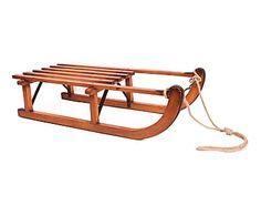 Trineo decorativo de madera