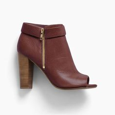 JoJo Peep Toe Boot - Dark Cranberry