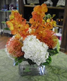 Orange and White Centerpieces - Google Search