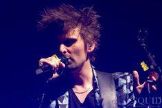 Photo of Matt Bellamy performing at the Rose Garden arena in Portland, Oregon #Muse