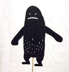 Yetti shadow puppet by owlyshadowpuppets on Etsy https://www.etsy.com/uk/listing/12849744/yetti-shadow-puppet