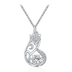 """T400 Jewelers """"Lovely Fox"""" 925 Sterling Silver Dancing St..."""