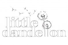 Little Dandelion drawing - Commissioned by Austrailian company Little Dandelion to design and create an artwork to be used as a company logo.