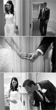 Wedding idea. Kisses the bride without seeing her. So sweet