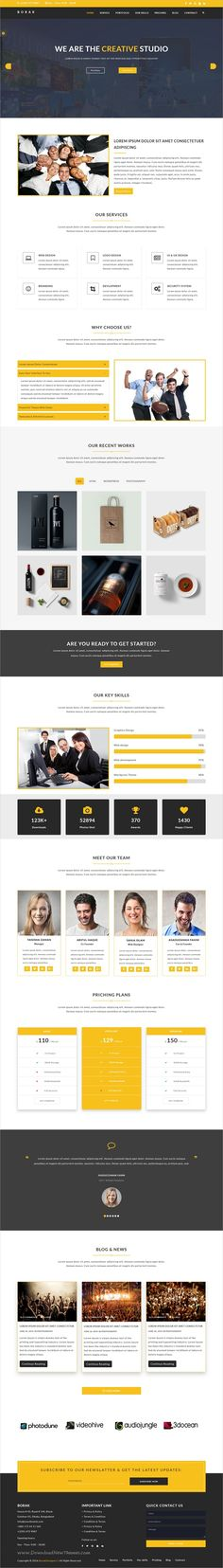 Borak is a fresh and clean #Design responsive HTML5 #bootstrap template for corporate #business websites download now➩ https://themeforest.net/item/borak-material-design-business-template/19299915?ref=Datasata