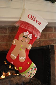 Thank you for stopping by The Sewing Bee Shop...    Your little girl will love having her own special Christmas stocking for Santa to fill. This