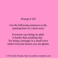 The Daily Prompt #335 - Jessica Cauthon - www.jccauthon.com #writing #writingprompt