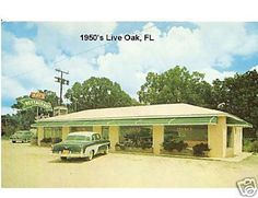 1950's Restaurant Live Oak, FL Refrigerator / Tool Box Magnet #Magnets