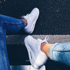 Nike Air Max 90 White Dope Trainers Footwear Sneakers Classic