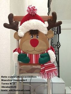 Resultado de imagen para cubresillas duende navidad Christmas Sewing, Christmas Snowman, Christmas Stockings, Christmas Crafts, Merry Christmas, Best Christmas Gifts, Christmas And New Year, All Things Christmas, Christmas Holidays