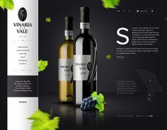 Local winery website design for Vinaria din Vale S.A.Made for Amigo web agency.