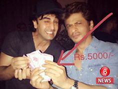 Jab harry met sejal shah rukh khan finally gives rs 5000 reward to ranbir kapoor for suggesting the title see photo Bollywood Movie Trailer, Quit Now, Karan Johar, Ranbir Kapoor, Bollywood Actors, Shahrukh Khan, Movie Trailers, See Photo, Meet