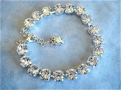 Diamond Cut Clear Crystal Bridesmaid Bracelet