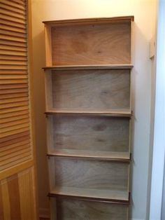 out of old dresser drawers! cute idea for a book shelf in Carleigh's new room on the small wall next to the closet.