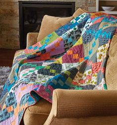 This cool quilt has a definite argyle-type pattern running through it, just like your favorite winter socks! The design is made up of easy squares and Four Patch units, and it comes together fast with strip sets. Try it in traditional or modern prints, as shown.