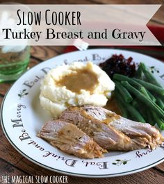 For dinner this week I made slow cooker turkey breast and gravy. It had been too long since I had turkey.