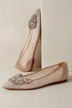 Bridal Jewelry Badgley Mischka Queen Butterfly Flats from - Wedding Boots, Wedding Dress, Wedding Flats For Bride, Wedding Dancing, Valentino Wedding Shoes, Bride Shoes, Pointed Toe Flats, Badgley Mischka, Cowgirl Boots