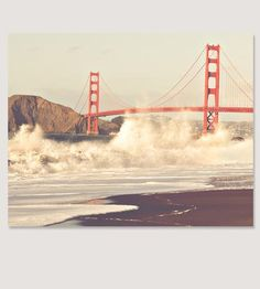 I want to stand here one day soon. :: California Love Golden Gate Photo Art