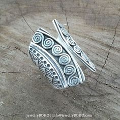 BOHO-Gypsy ring-Hippie ring-Bohemian ring-Statement ring R010 JewelryBOHO-Handmade sterling silver BOHO Tribal ring
