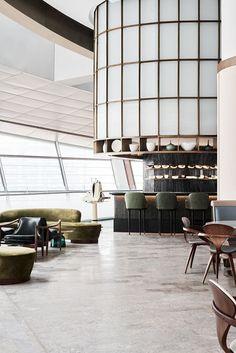 Sean Connolly at Dubai Opera is a 350 person restaurant and bar with external bar and sky garden. The venue includes Raw bar, Fire bar, brasserie, main. Interior Design Dubai, Interior Design Website, Bar Interior, Restaurant Interior Design, Contemporary Interior Design, Interior Exterior, Interior Architecture, Luxury Interior, Interior Ideas
